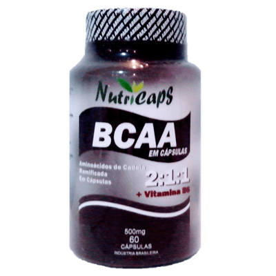BCAA 500mg Com Vitamina B6 - 60 Cápsulas