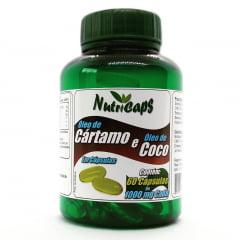 Óleo de Cártamo e Óleo de Coco 1000mg  - 60 Cápsulas
