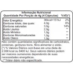 Óleo de Coco Extra Virgem 1000mg - 60 Cápsulas