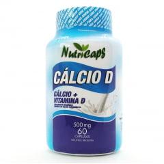 Cálcio D (Carbonato de Cálcio + Vitamina D) 500mg - 60 cápsulas