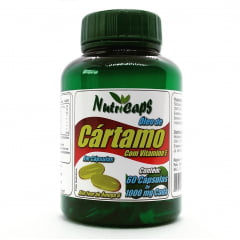 Óleo de Cártamo Com Vitamina E 1000mg - 60 Cápsulas